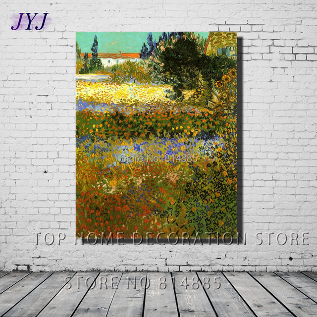 Flowering Garden 1888 By Vincent Van Gogh Handpainted Famous Oil Painting  Canvas Wall Art Gift Top
