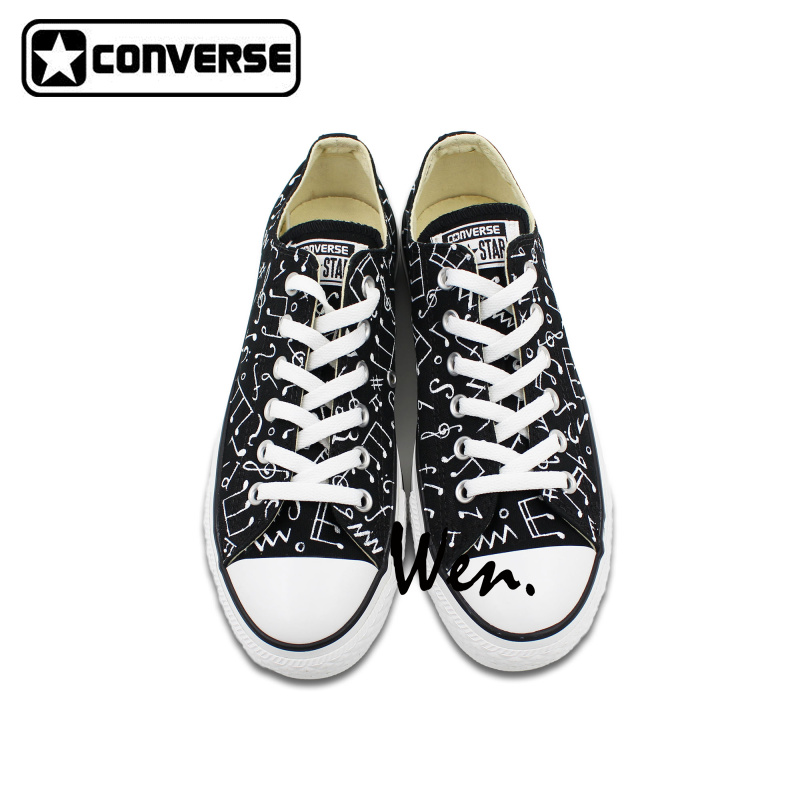 ???? Original Converse All Star Shoes Hand Painted Music