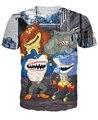 Tubarões de rua T-Shirt de combate ao crime metade metade homem tubarões Tubarões de Rua tee mulheres homens dos desenhos animados 3d t shirt engraçado verão