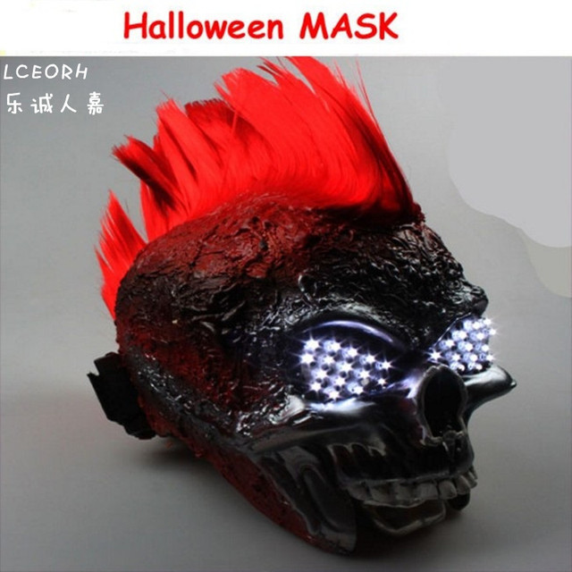 free shipping halloween mask mask led luminous nuclear death metal punk band perform mask christmas gift - Death Metal Christmas