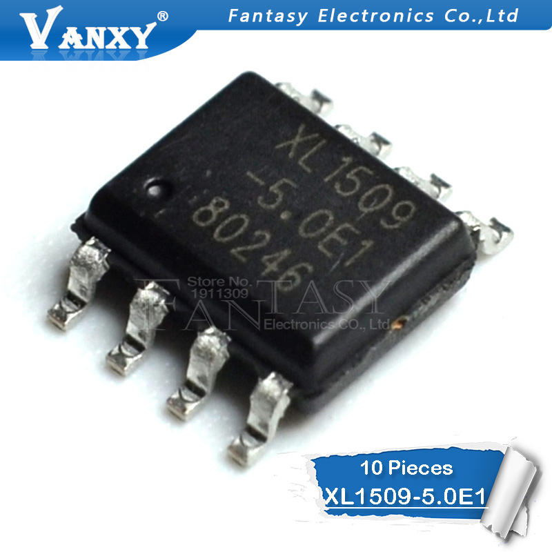 10PCS XL1509-5.0E1 SOP XL1509-5.0 SOP8 XL1509-5 XL1509 SMD New And Original IC