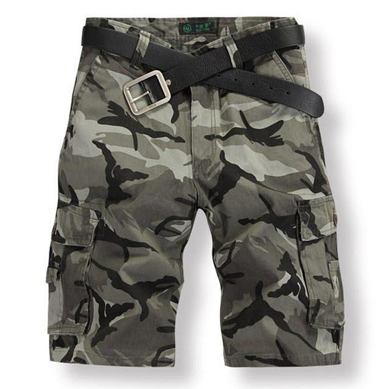 2017 New Fashion Shorts Men Camouflage Army Short Mens Homme masculino Cargo Shorts Plus Size 28
