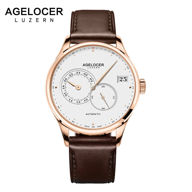 Top Luxury Switzerland Brand AGELOCER Men Automatic Watches Men's Clock Man Gold Waterproof Wrist Watch relogio masculino wrist switzerland automatic mechanical men watch waterproof mens watches top brand luxury sapphire military reloj hombre b6036