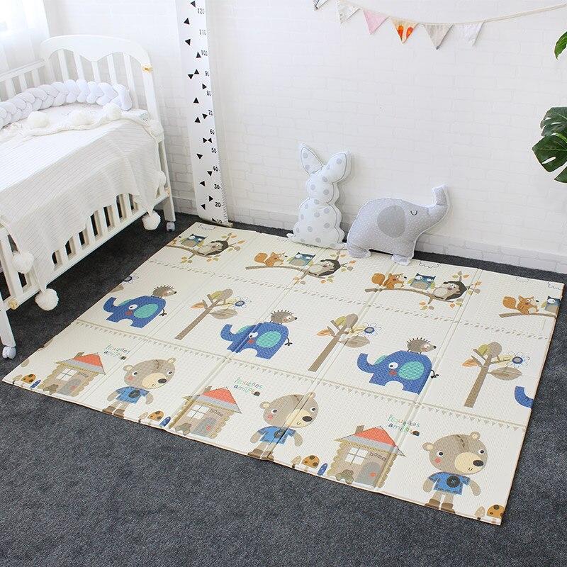 Desenvolvimento de Tapete Para O Bebê Não-tóxico Macio Playmat Atividade Ginásio de Espuma XPE Dobrável Portátil Para Jogos Para Crianças Crianças Tapete 200x150 cm