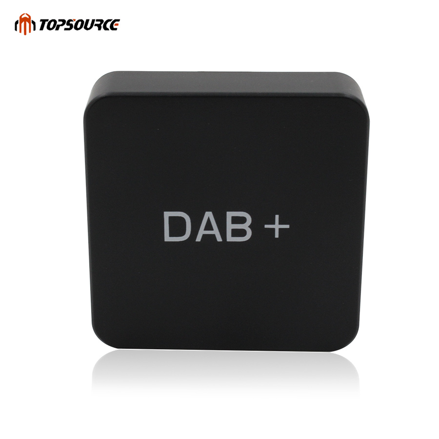 TOPSOURCE DAB+004 Radio Receiver Digital Audio Broadcasting Only For Android Car DVD digital radio receiver dab dab radio tuner antenna for android car dvd player for digital audio broadcast receiver styling