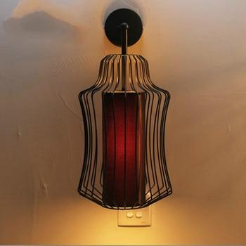 Новая классическая барная стойка, винтажная лампа для спальни, большая благородная железная клетка, настенная лампа