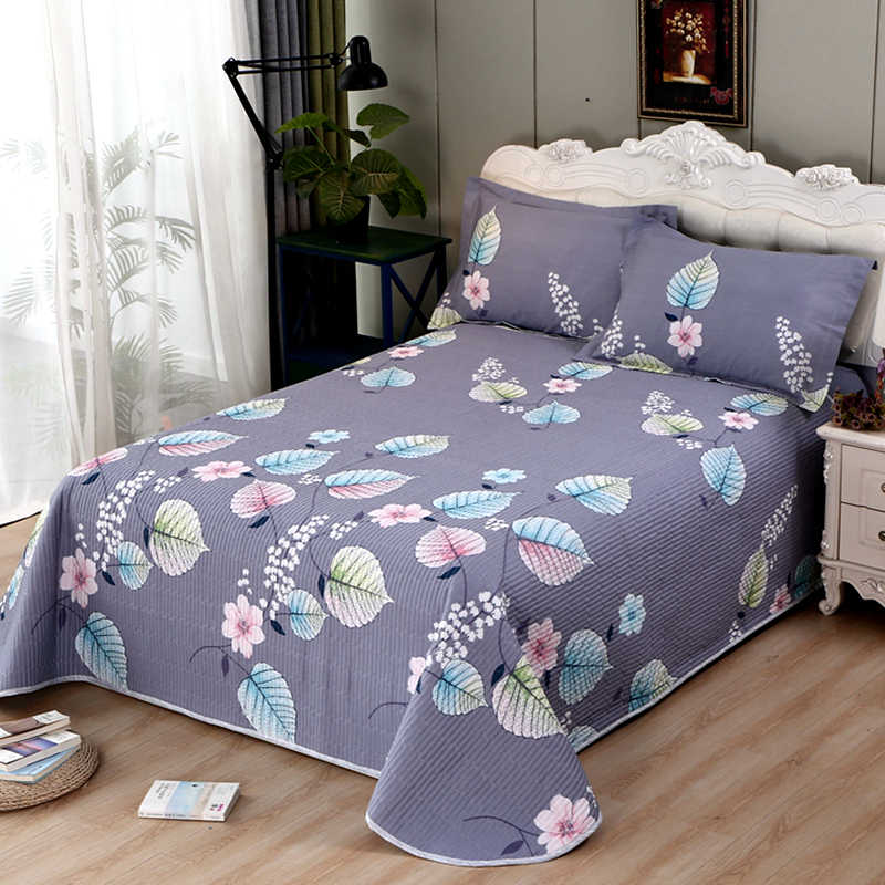 High Quality European Soft Comfortable Cotton Summer Double Blanket Quilted Coverlet/Bedspread/Quilt Blankets Pillow case #a