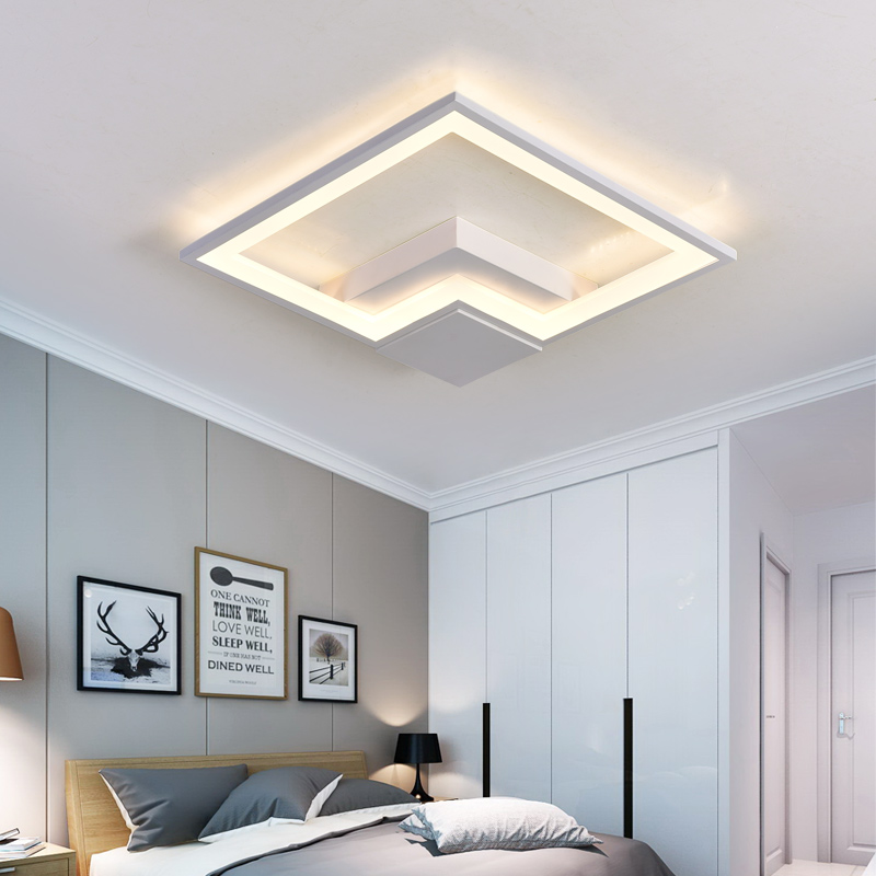 Black+White art Modern Led Ceiling Lights For Indoor Lighting plafon Ceiling Lamp Fixture For Living Room Bedroom luminaria teto