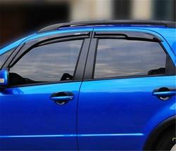 4 pz/set Window Visor Vent Ombra Sole Pioggia Deflettore Della Protezione Dello Schermo Per Suzuki SX4 2007-2012 Hatch e Sedan