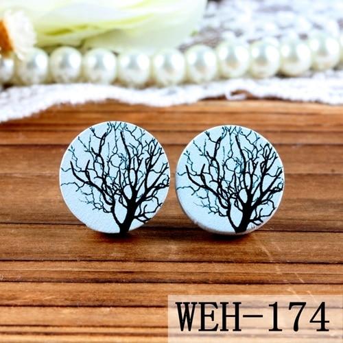 50/% off- 16mm 20mm 10PCS 20PCS 50PCS 100PCS  Round Handmade Photo Wood Cut Cabochon - WEH-229 - Back White
