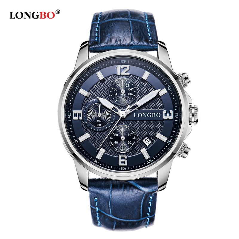 LONGBO Men Sports Watches Wristwatches Leather Quartz WristWatch Clock Brand Luxury Military Watch Men's Calendar Relojes 5003 new listing yazole men watch luxury brand watches quartz clock fashion leather belts watch cheap sports wristwatch relogio male
