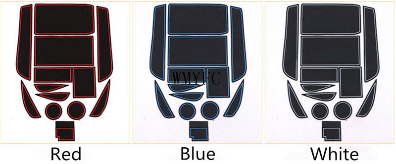 For Lexus ES ES200 250 ES300h Anti Slip Rubber Cup Cushion Door Mat Accessories Car Styling Sticker