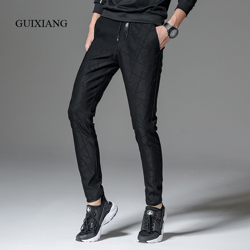 New spring and autumn style men's long pants fashion leisure high quality solid slim trousers size 28-36