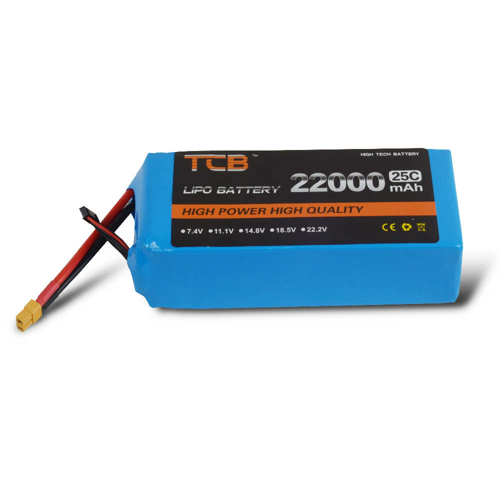 TCB RC Drone LiPo Battery 4S 14.8V 22000mAh 25C FOR RC Airplane Drone Quadrotor Helicopter Car Boat Batteria AKKU