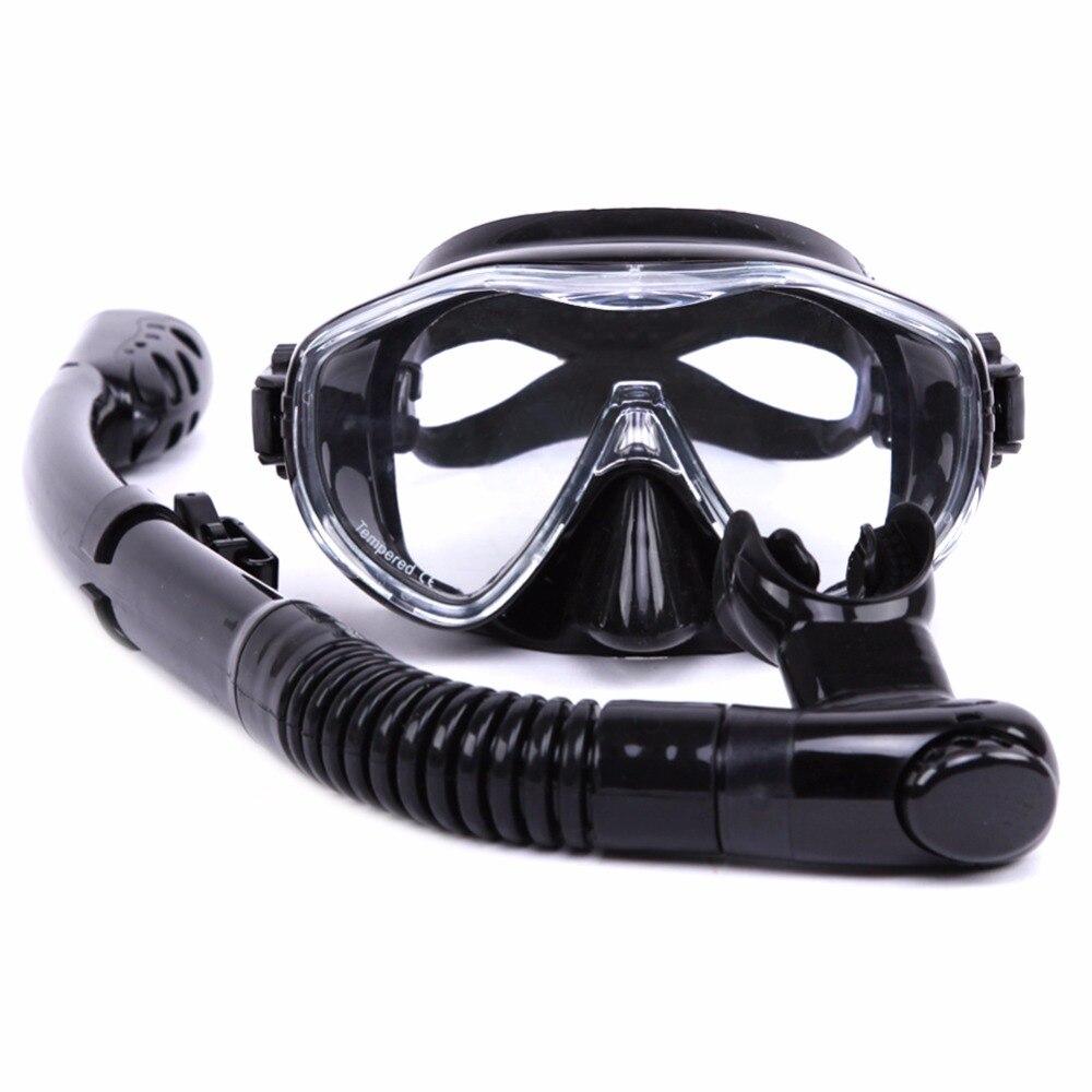 Sports nautiques Formation Plongée Masque Anti-Brouillard Équipement de Plongée tube de Respiration Silicone Plongée sous-marine lunettes Tuba ensemble Adulte