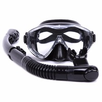 Water Sports Training Diving Mask Anti Fog Snorkeling Equipment Breathing tube Silicone Scuba Diving glasses Snorkel set Adult