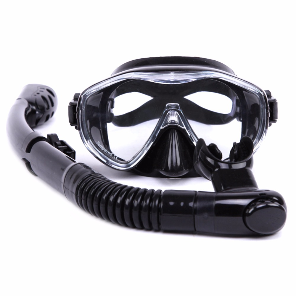 Water Sports Training Diving Mask Anti-Fog Snorkeling Equipment Breathing tube Silicone Scuba Diving glasses Snorkel set Adult