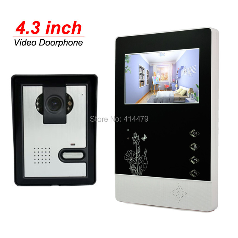Home Video Doorphone Intercom Set 4.3 inch TFT Screen 600TVL Night Vision Rain Proof Call Speakerphone Camera 7 inch video doorbell tft lcd hd screen wired video doorphone for villa one monitor with one metal outdoor unit night vision