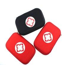 שחור ואדום צבע עזרה ראשונה ערכות נייד חיצוני הישרדות אסון רעידת אדמה חירום שקיות רכב רכוב רפואי חבילה