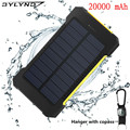 BYLYND Solar Power Bank 20000 mAh Dupla USB carregador Solar Portátil Bateria Externa Pacote Carregador de Bateria Externa para telefone inteligente