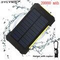 BYLYND cargador Solar Solar Power Bank 20000 mAh Doble USB Paquete de Batería Externa del Cargador Portátil Batería Externa para el teléfono inteligente
