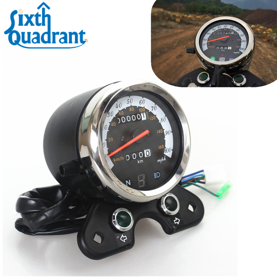 Odometer Speedometer Tachometer km/h mph Instrument Assembly for Honda GN125 CB EN Classic Cafe Racer old school motorcycle gauges