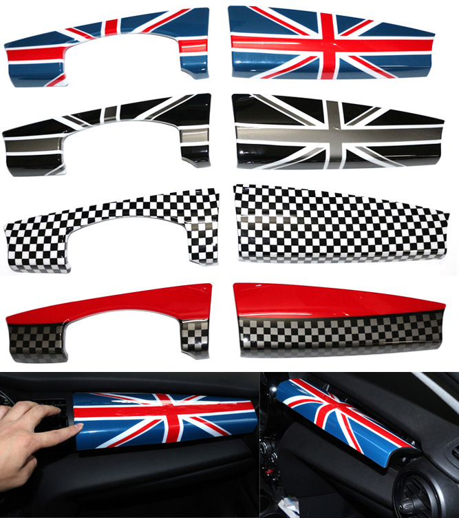 Areyourshop Car Union Jack/JCW Dashboard Panel Trim Cover For BMW for MINI Cooper F55 F56 2014 2015 Car Auto Covers accessories