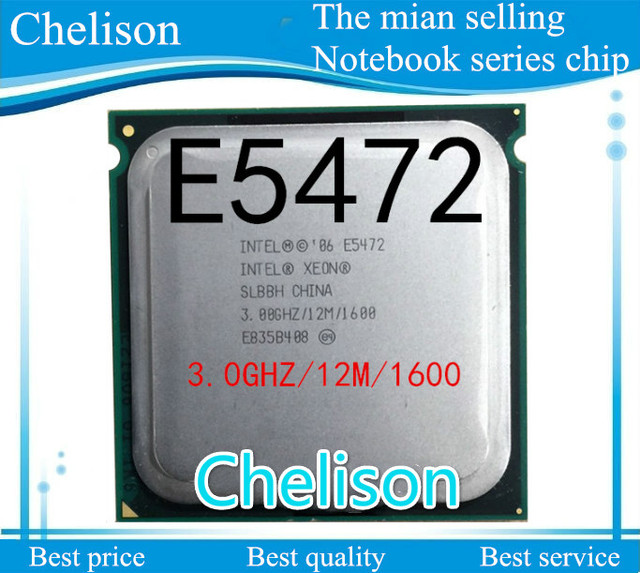 Free shipping Xeon E5472 processor (3.0GHz/12MB /4 cores /Socket 771/1600MHz) Original Quad CPU
