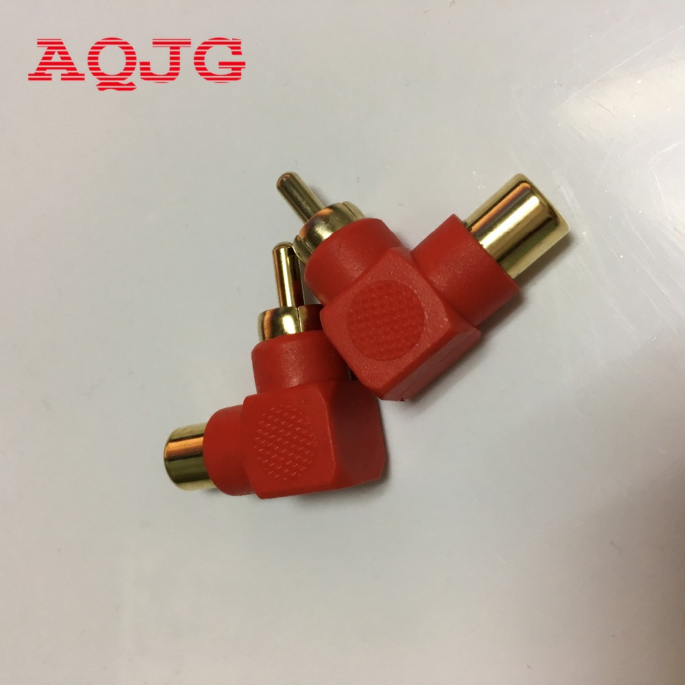 10pcs RICH TECH Industrial 90 Degree RCA Right Angle Connector Plug Adapters Male To Female M/F Elbow Adapter Audio AQJG sale 20 pcs rca right angle connector plug adapters male to female 90 degree elbow
