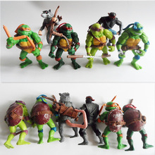6Pcs/set Teenage Mutant Ninja Turtles TMNT Action Figures Toy Set 12cm Classic Collection Model for the kids boys gifts