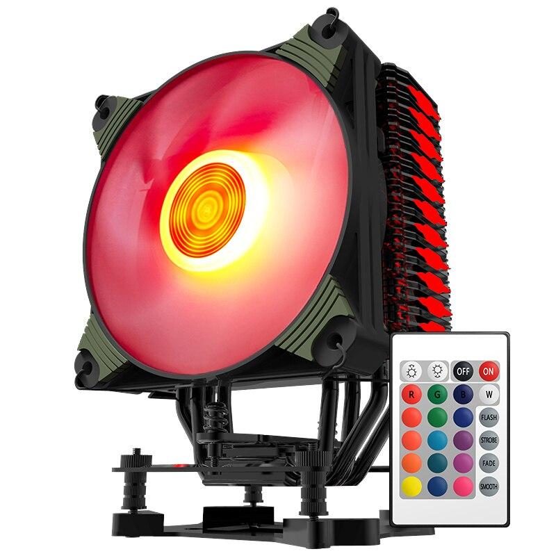 Aigo ICY K4 CPU Cooler RGB Computer Cooling Fan with Fan Controller Heatsink Radiator 120mm computer cooler radiator with heatsink heatpipe cooling fan for hd6970 hd6950 grahics card vga cooler