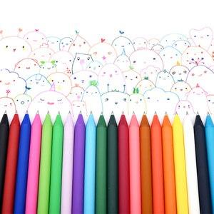 Image 4 - 20 قطعة/المجموعة KACO Kawaii الحلوى اللون قابل للسحب هلام الأقلام للأطفال الكبار الألوان 0.5 مللي متر لطيف الملونة الحبر محايد هلام القلم القرطاسية