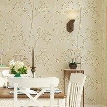 PAYSOTA Green Nonwoven Wallpaper Living Room Bedroom TV Background Wall Garden Roll