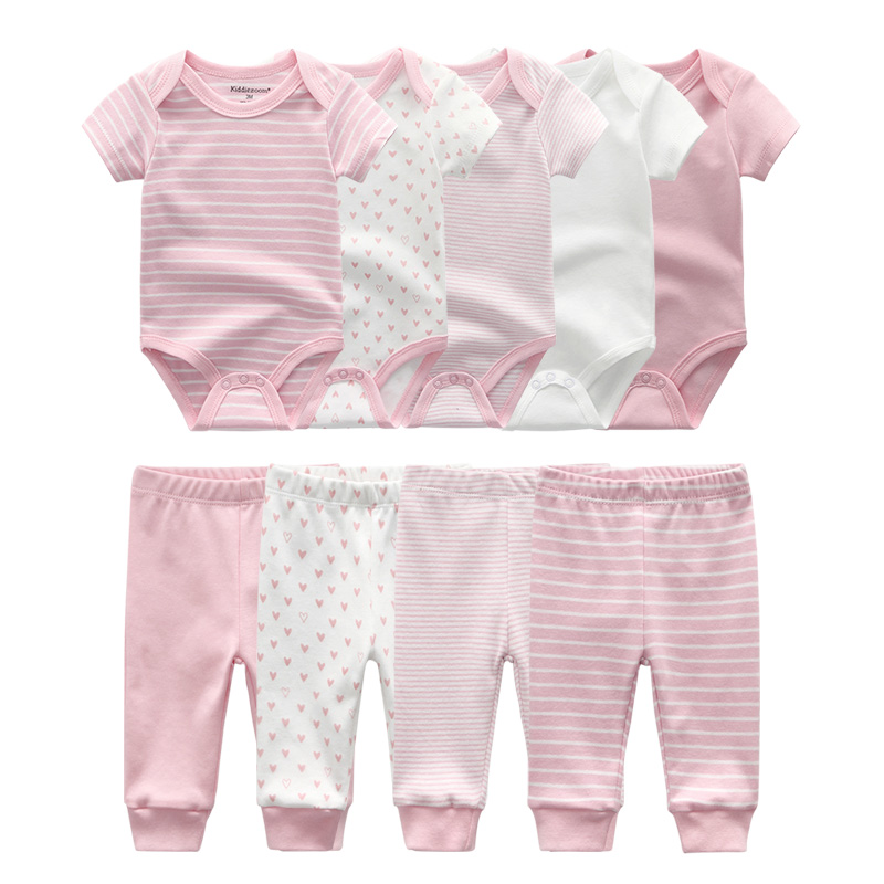 Image 2 - 2019 Solid Bodysuits+Pants Baby Boy Clothes Clothing Sets 0 12M Baby Girl Clothes Unisex Newborn Girls Baby Cotton Roupa de bebe-in Clothing Sets from Mother & Kids