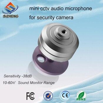 Mini micrófono de CCTV de sihid COTT-S9 dispositivos de escucha de sonido digital para el sistema de vigilancia de vídeo de recogida de voz para el sistema de seguridad