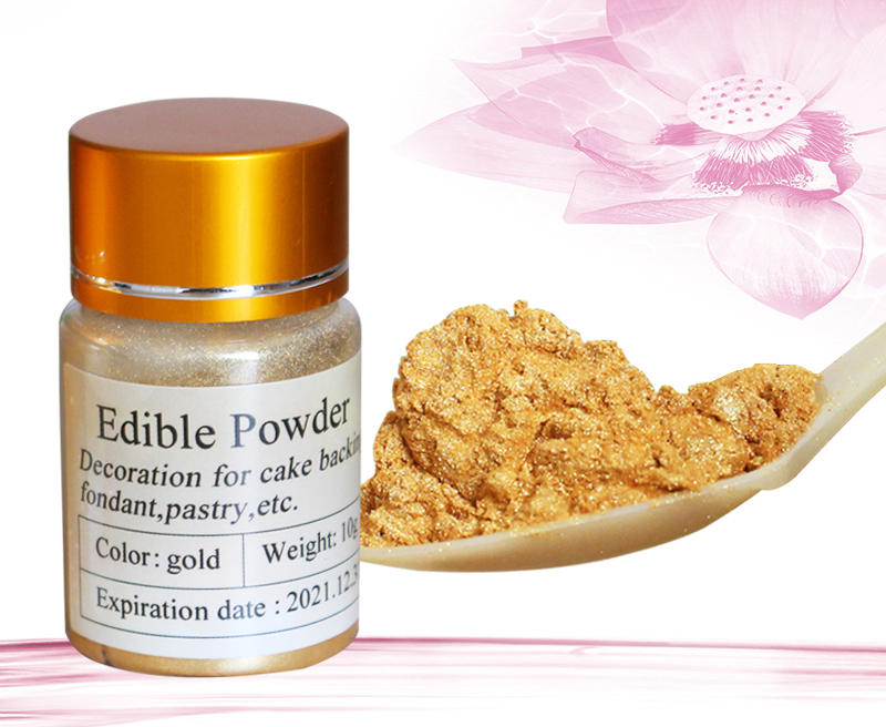 US $6.54 23% OFF Edible Food Coloring Gold Food Powder 10g in Cake  Decorations Baking Pastry Bread Colorantes Comestibles Baking Ingredients  on ...