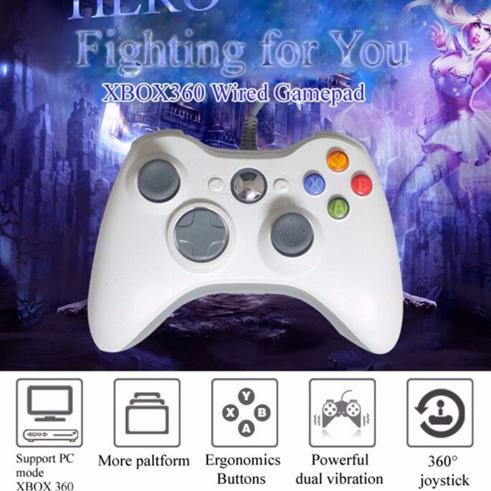Wired USB Controller For Xbox 360 Game Accessories Wired Gamepad Joypad Joystick For XBOX360 For Microsoft Console PC Controle