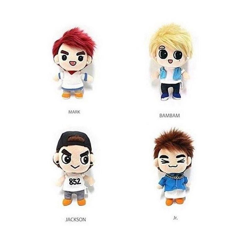 In Hard-Working Kpop Got7 Acrylic Stand Plates Cartoon Bambam Youngjae Mark Jackson Jb Jin Young Yu Gyeom Mini Figure Fans Gift Collection Fashionable Style;