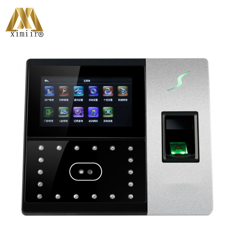 High Speed Identify 4.3 Touch Screen Latest ZMM220 TCP/IP Iface703 Fingerprint Face Access Controller And Time Attendance System
