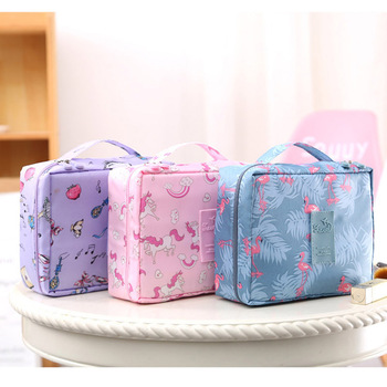 Multifunction Travel Cosmetic Bag Women Makeup Toiletries Organizer Waterproof 3
