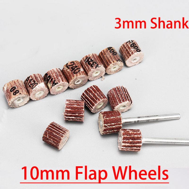 1Pcs 10mm Sanding Flap Disc Grinding Wheels Brush Sand Dremel Accessories For Abrasive Grinder Rotary Tools