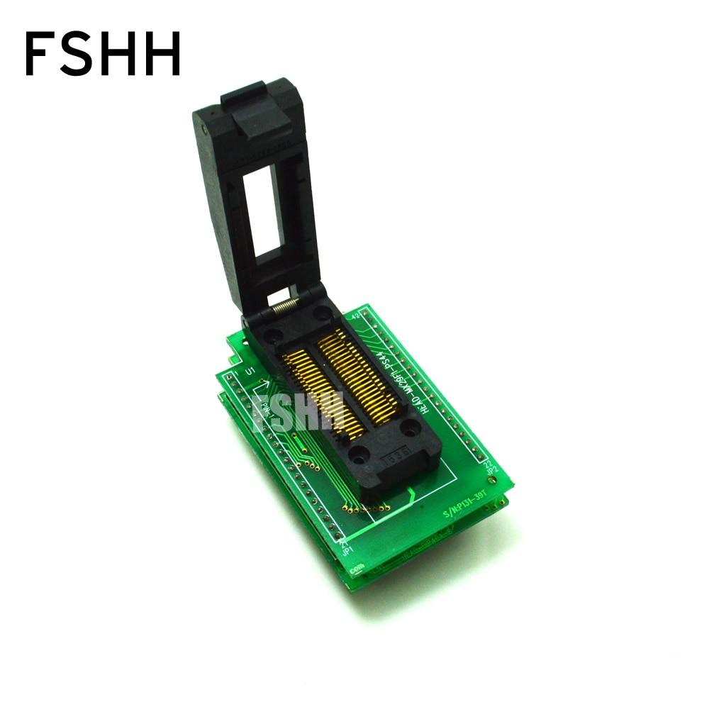 HEAD-MX29F1-PS44 Programmer Adapter for HI-LO GANG-08 Programmer Adapter PSOP44 IC SOCKET clamshell qfp144 lqfp144 tqfp144 su h8s2505 tq144 programmer adapter for lp programmer