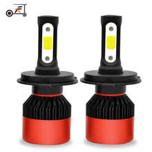 2Pcs Fuxuan Car Headllight H7 LED H4 Bulb H1 H3 H11 HB3 9005 9007 72W 8000LM 6000K Fog Light 12V/24V Auto Headlamp Lamps