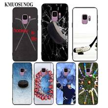 For Samsung Galaxy M10 M20 M30 Note 9 8 S10 S9 S8 Plus Lite S7 S6 Edge Black Silicone Phone Case Hockey Sport Style idlamp 351 2a chrome