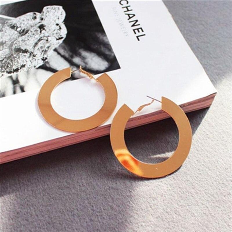 2018 new earrings stud earrings trend character texture big ear ring earrings stud earrings gift
