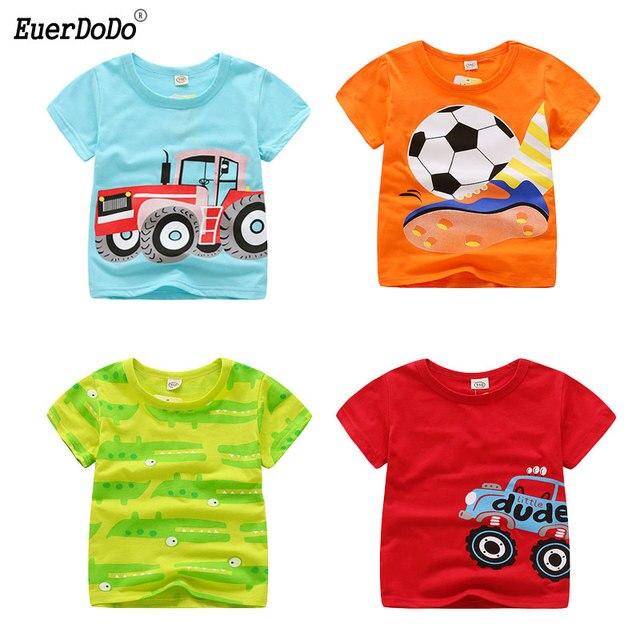 6477929a Summer Cartoon Animal Tee For Boys Girls Cotton Tops Short Sleeve Kids T  Shirts Giraffe Lion Elephant Children T-shirt