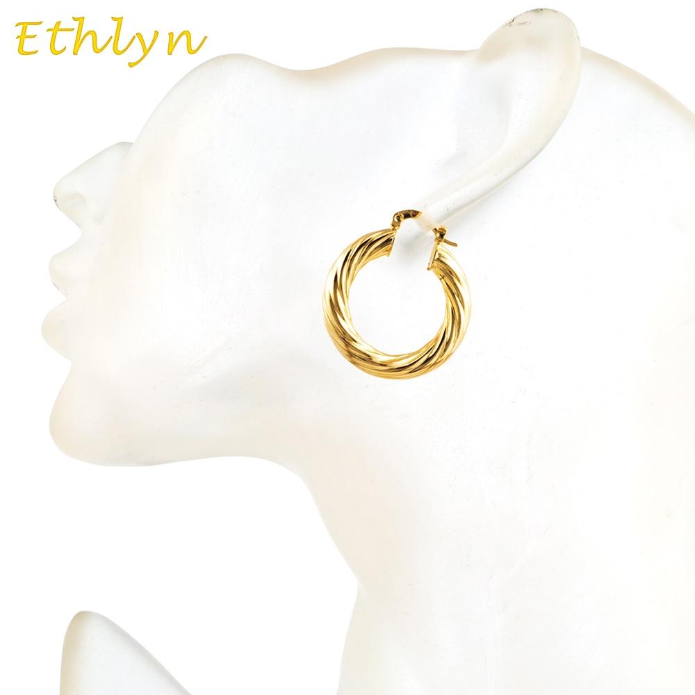 ᐂEthlyn Éthiopien style Africain hoop boucles d oreilles or couleur ... 4c70f9eb8dd