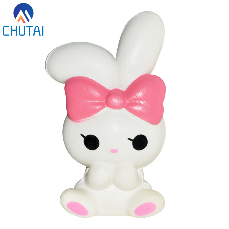Jumbo Kawaii Lovely Rabbit Bread Cream Scented Slow Rising Squeeze Toys Grownups Kids PU Vent Extrusion Stress Relief Toy 13*7CM