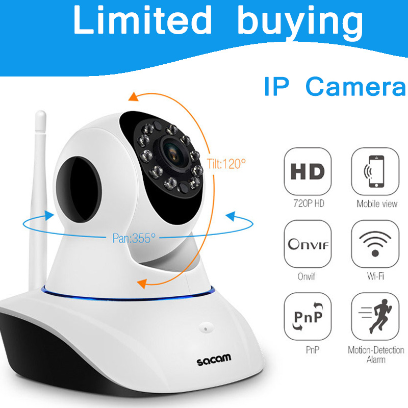 ФОТО Wireless WiFi IR IP Camera House Home Security and Surveillance alarm kit system Plug and Play Pan Tilt HD 720P CCTV