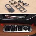 4 Pcs/Set Car Styling ABS Trim Inside Window Switch Panel Cover Decoration Accessories For Honda HR-V HRV Vezel 2015 2016
